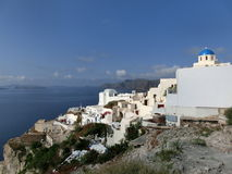 View to the sea from Oia village of Santorini Royalty Free Stock Image