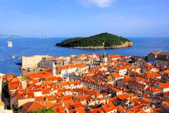 View to sea over the old town of Dubrovnik, Croatia Royalty Free Stock Photography