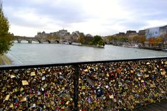A view to Seine river in Paris. Stock Photo
