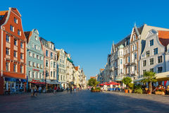 View to a shopping street in Rostock, Germany Royalty Free Stock Photography