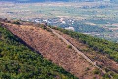 View to Sighnaghi (Signagi) old town in Kakheti region, Georgia. stock photos