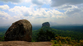 View to Sigiriya aka Lion Rock from Pidurangala mountain in Sri Lanka Stock Images