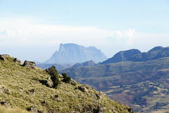 View to Simien mountains Royalty Free Stock Photography