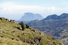 View to Simien mountains Royalty Free Stock Image
