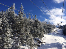 View to ski slopes at Cannon mountain Stock Photography