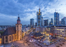 View to skyline of Frankfurt Royalty Free Stock Photos
