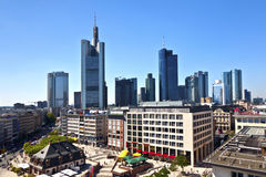 View to skyline of Frankfurt Stock Photos
