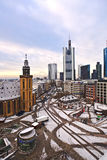View to skyline of Frankfurt Stock Photography