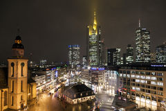 View to skyline of Frankfurt Stock Images