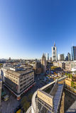 View to skyline in Frankfurt Stock Images