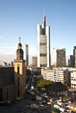 View to skyline of Frankfurt Stock Image