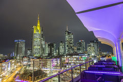 View to skyline of Frankfurt with Hauptwache Stock Photography
