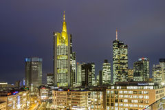 View to skyline of Frankfurt with Hauptwache Royalty Free Stock Photography