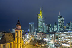 View to skyline of Frankfurt with Hauptwache Royalty Free Stock Images