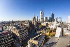 View to skyline in Frankfurt am Main Royalty Free Stock Photos