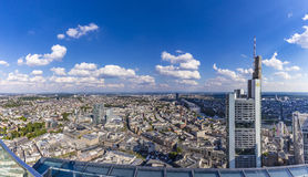 View to skyline of Frankfurt from Maintower Stock Photos