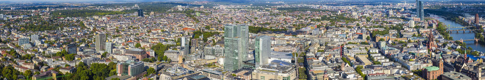 View to skyline of Frankfurt from Maintower Stock Images