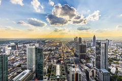 View to skyline of Frankfurt from Maintower Royalty Free Stock Photo