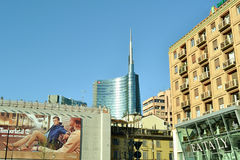 View to skyscraper of Milano Porta Nuova new business centre. Royalty Free Stock Photography