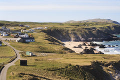 View to the small village near Durness Royalty Free Stock Photography