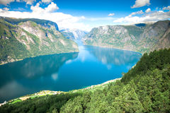 View to Sognefjord in Norway Stock Photos