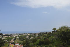 View to the South over the coastline of Northern Cyprus Stock Photo