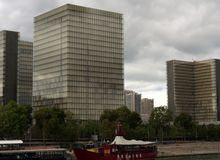 view to southeast, northeast and southwest buildings from Bibliothèque nationale royalty free stock image