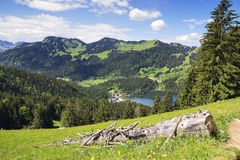 View to Spitzingsee in Alps Royalty Free Stock Photography