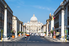 View to St Peter`s Basilica Stock Photos