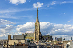 View to St. Stephen's Cathedral in vienna Royalty Free Stock Photo