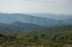 View to Stara planina mountain massif in the south-eastern Serbia from Babin Zub, Serbia. stock photo