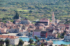 View to Starigrad, a town at Hvar island Royalty Free Stock Photos
