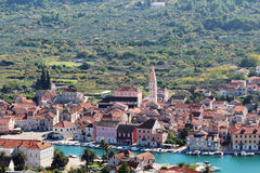 View to Starigrad, a town at Hvar island Stock Photo