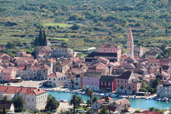 View to Starigrad, a town at Hvar island Stock Photography