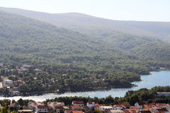 View to Starigrad, a town at Hvar island Royalty Free Stock Images