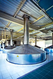 View to steel fermentation vat Stock Photography