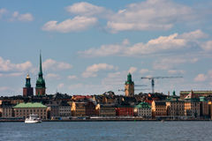 View to Stockholm city. Royalty Free Stock Photography