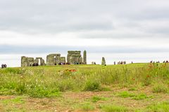 View to Stonehenge, England stock photography