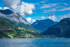 View to the Storfjord in Norway Stock Photography