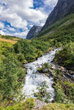 View to the Storseterfossen Stock Photography