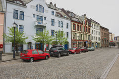 View to the street of Alesund, Norway. Stock Photography