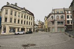 View to the street of Alesund, Norway. Royalty Free Stock Photography