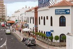 View to the street of Tenerife. Stock Photos