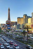 View to the Strip, the famous casino mile in Las Vegas Stock Images