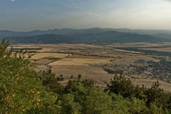 View to sub Balkan valley from Balkan mountain Stock Image