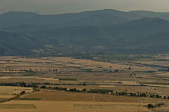 View to sub Balkan valley from Balkan mountain Royalty Free Stock Photos