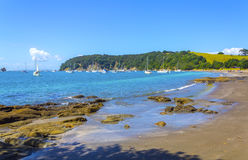 View to Sullivans Bay Mahurangi Beach Auckland New Zealand Royalty Free Stock Photo