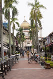 View to Sultan Mosque, centre of islamic culture Stock Photos