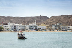 View to Sur bay in Oman Stock Image