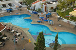 View to the swim pool outside. Stock Photography